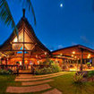Restaurant area of the Uprising Beach Resort, Pacific Harbour, Fiji