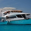 Sheena liveaboard and dhoni dive boat in the Southern Atolls