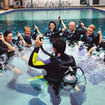 PADI instruction to Discover Scuba Diving participants in the pool