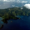 An aerial view of Cocos Island