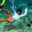 Snorkelling in the marine reserves of Belize
