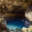 Swimming in the cenotes, near Cancun