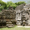The Mayan city Mask temple in Lamanai, Belize
