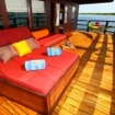 A suite balcony on the WAOW liveaboard