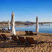 Relax on a Red Sea beach in Naama Bay, Sharm El Sheikh