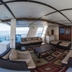 The upper deck social area on the Rocio Del Mar liveaboard