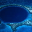 Overhead image of the Great Blue Hole