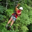 Ziplining on a day trip from Ambergris Caye