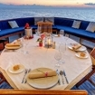 Candlelight dining during your Pelagian liveaboard diving cruise