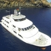 Aerial view of the Nautilus Explorer diving safari boat