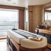 A massage room on a liveaboard trip in the Maldives