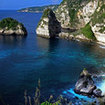 Stunning view of the Atuh Beach, Nusa Penida, near Bali