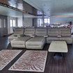 The lounge of Blue Honors Legacy Maldives liveaboard dive boat
