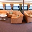 The comfortable saloon on Ocean Quest