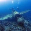 A sunken fighter plane in Palau