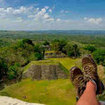 View of the Mayan ruins in Xunantunich, Belize