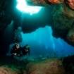 Diving in the lava tubes of Kona