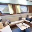 Plenty of space in the saloon on this motor yacht