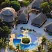 Aerial view of the Portofino Beach Resort, Ambergris Caye, Belize