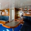 The saloon onboard the Giamani