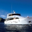 The liveaboard boat, Fiji Aggressor