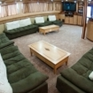 The indoor saloon on the Andromeda liveaboard