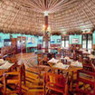 Dining area of the Blackbird Caye Resort, Belize