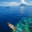 Snorkelling at Bunaken Island, Manado, Indonesia