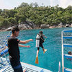 Start your Phuket scuba daytrips with a giant stride!