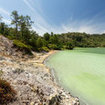 Famous tourist attraction in north Sulawesi, the sulphurous lake at Danau-Linow