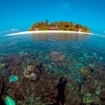 Maldives atoll scenery; what a dive site!
