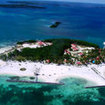 Aerial view of Turneffe Island and resort, Belize