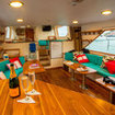 Comfortable saloon for Galapagos dive cruises