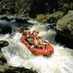 White water rafting in Sulawesi, Indonesia