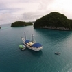 The Palau Siren liveaboard at the Rock Islands of Palau