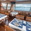 Banda dive cruise dining aboard the Sea Safari VI liveaboard