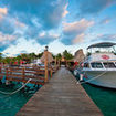 Dive trip boat at Ramon's Village Resort, Ambergris Caye