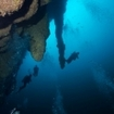 Diving along the Belize Blue Hole's wall