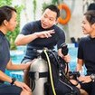 PADI Open Water Diver scuba equipment lesson
