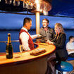 Have an evening drink in the Galapagos Islands on your cruise