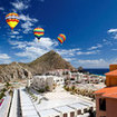 Hot air balloons in Cabo San Lucas, Mexico