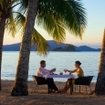 Beach dining in Queensland, Australia