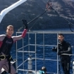 Ecstatic divers post Guadalupe Island shark cage dive