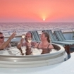 Sundowners in the hot tub during your Belize diving safari with Belize Aggressor III