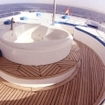 Whirlpool tubs are used on sun decks on some of the Egyptian yachts