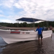 The beach launch from Uvita, Costa Rica