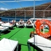 Relax on Solmar V's sun deck during your Guadalupe liveaboard cruise