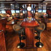 Spacious saloon on this Fiji liveaboard dive boat