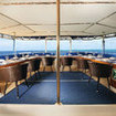 Upper deck al fresco dining on the Palau Siren