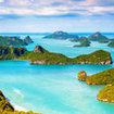 Visit the Angthong National Marine Park near Koh Samui